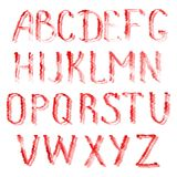 Red letters of english alphabet Royalty Free Stock Image