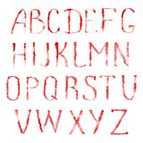 Red letters of latin alphabet Royalty Free Stock Photos
