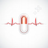 Red alternative medication concept Royalty Free Stock Photo