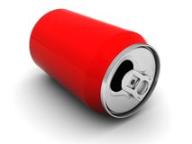 Red aluminum can Stock Photo