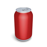 Red aluminum can for soda Stock Images