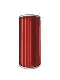 Red Aluminum Drink Can isolated with clipping path Stock Photos