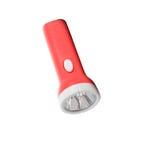Red aluminum flashlight isolated on white Stock Photography