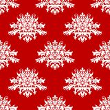 Red or amaranth damask style fabric pattern Royalty Free Stock Photos