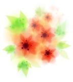 Red amaryllis belladonna flowers Stock Photos