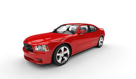 Red American Car Stock Photography