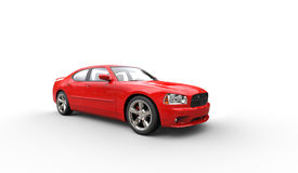 Red American Car Stock Image
