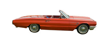 Red American convertible Royalty Free Stock Photo