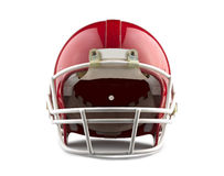 Red American football helmet. On a white background with detailed clipping path Royalty Free Stock Photos