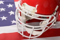 Red American Football Helmet Stock Images
