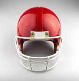 Red American football helmet Royalty Free Stock Photography