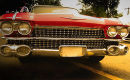 Red American Muscle Car Royalty Free Stock Images