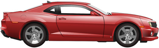 Red American muscle car stock illustration