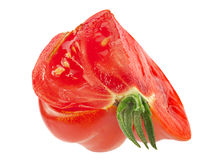 Red American ribbed tomato slice Stock Photography