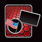 Red American template Royalty Free Stock Photography