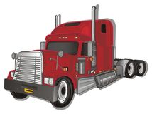 Trailer and shadow. Red american trailer with gray shadow royalty free illustration