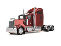 Red american truck Royalty Free Stock Images