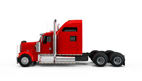 Red american truck Stock Photos