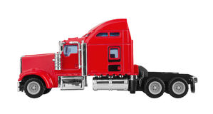 Red american truck Royalty Free Stock Image