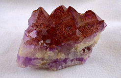 Red Amethyst Cluster Royalty Free Stock Photos