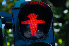 Red Ampel traffic sign in eastern Royalty Free Stock Photos