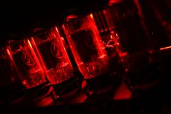 Red amplifier valves Royalty Free Stock Photo