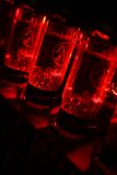 Red amplifier valves Stock Image