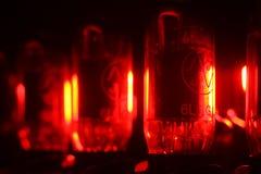 Red amplifier valves Stock Photos