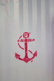 Red anchor stencil Royalty Free Stock Image