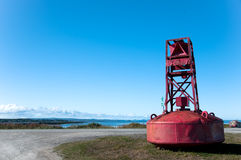 Red anchor for submarine Royalty Free Stock Image