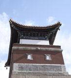 Red Ancient Chinese Architectures Under Blue Sky Stock Images