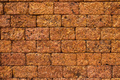 Red ancient stone wall texture, background Royalty Free Stock Images