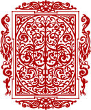 Red ancient vintage ornament isolated on white Royalty Free Stock Images