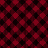 Red And Black Plaid Fabric Background Stock Photography