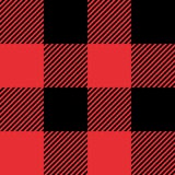 Red And Black Tartan Plaid Seamless Abstract Checkered Pattern Background Royalty Free Stock Photo