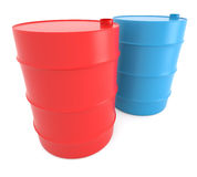 Red And Blue Barrels Royalty Free Stock Image