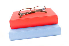 Red And Blue Book Isolated On A White Background Royalty Free Stock Photo