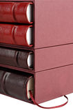 Red And Brown Leather Books Stock Images