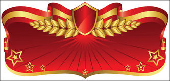 Free Red And Gold Banner Royalty Free Stock Photos - 37991288