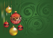 Red And Gold Christmas Balls Stock Image
