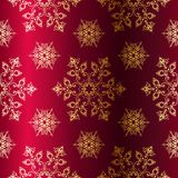 Red-and-Gold Seamless Christmas Background Royalty Free Stock Photos