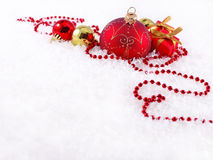 Free Red And Golden Christmas Decorations Royalty Free Stock Photos - 34476568