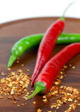 Red And Green Chili Pepper Stock Images