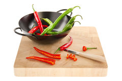 Free Red And Green Hot Chili Peppers Royalty Free Stock Photo - 18458965
