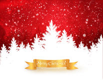 Free Red And White Christmas Trees Landscape. Stock Image - 62507321