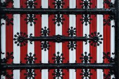 Free Red And White Decorations On The Doors And Window Shutters Of De Haar Castle. Royalty Free Stock Image - 119107606