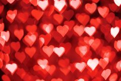 Free Red And White Hearts Bokeh As Background For Valentine&x27;s Day Royalty Free Stock Image - 138533596