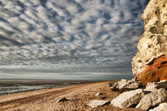Red And White Limestone Cliffs Stock Images