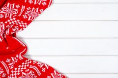 Free Red And White New Year Winter Blanket Stock Photos - 104797253