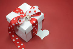 Free Red And White Polka Dot Theme Gift Box Present Stock Photography - 40684572